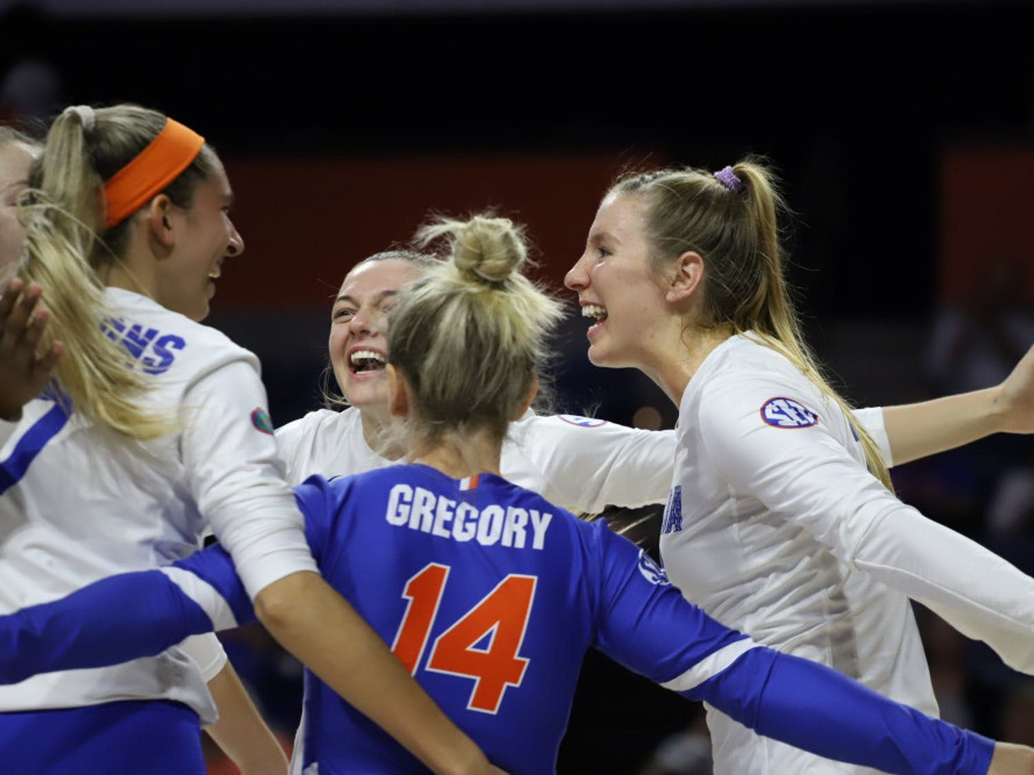 The Gators celebrate a successful play at home against Texas A&M last year. This season, Florida will only play the four SEC schools it's closest to due to the COVID-19 pandemic.
