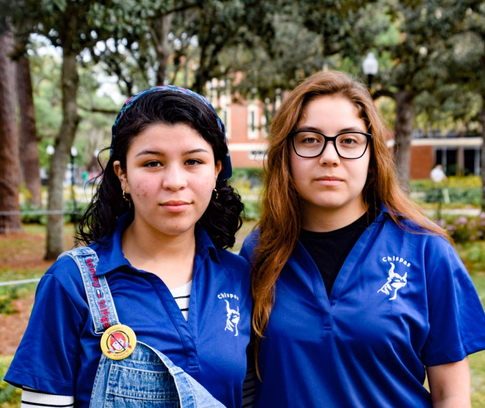 <p>Michell Hernandez, a 22-year-old UF microbiology and cell science senior, and Saira Gonzalez, an 18-year-old UF anthropology sophomore, work with UF Chispas. Both are DACA recipients, and Hernandez is co-president, while Gonzalez is the assistant membership director.</p>
