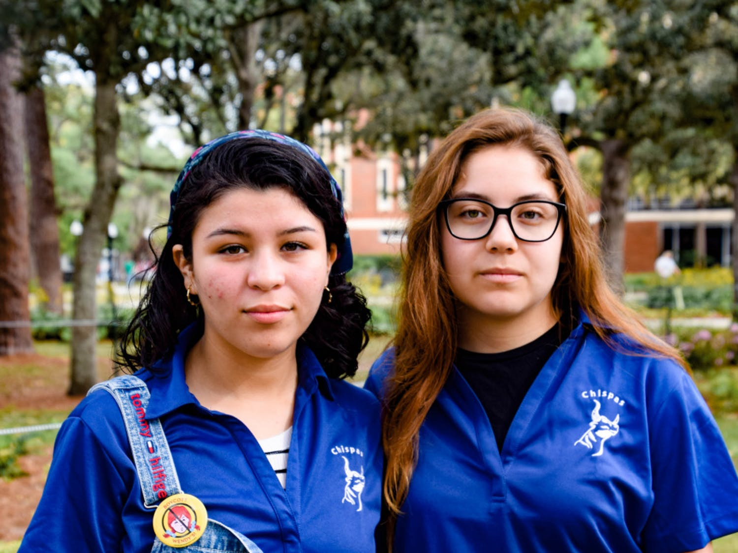 Michell Hernandez, a 22-year-old UF microbiology and cell science senior, and Saira Gonzalez, an 18-year-old UF anthropology sophomore, work with UF Chispas. Both are DACA recipients, and Hernandez is co-president, while Gonzalez is the assistant membership director.