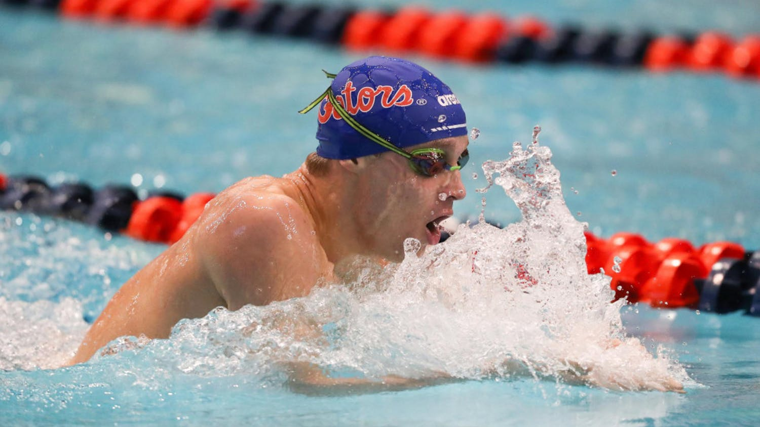 Robert Finke during the Gators' meet on Day 3 of the SEC Championships on Thursday, February 20, 2020 at Martin Aquatics Center in Auburn, Alabama. Finke and other Gators return to Auburn for an invitational this week.