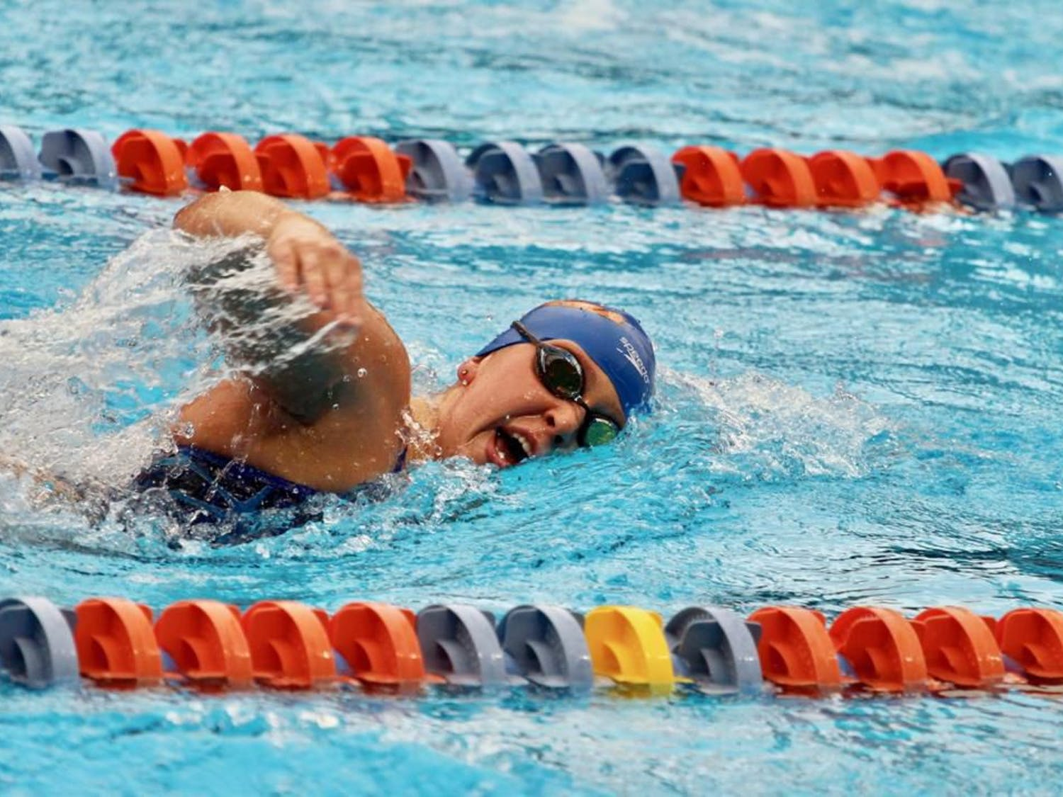 Florida sophomore Taylor Ault notched two second-place finishes in both the 500 free (4:48.38) and the 1,650 free (16:29.57) in her last meet.