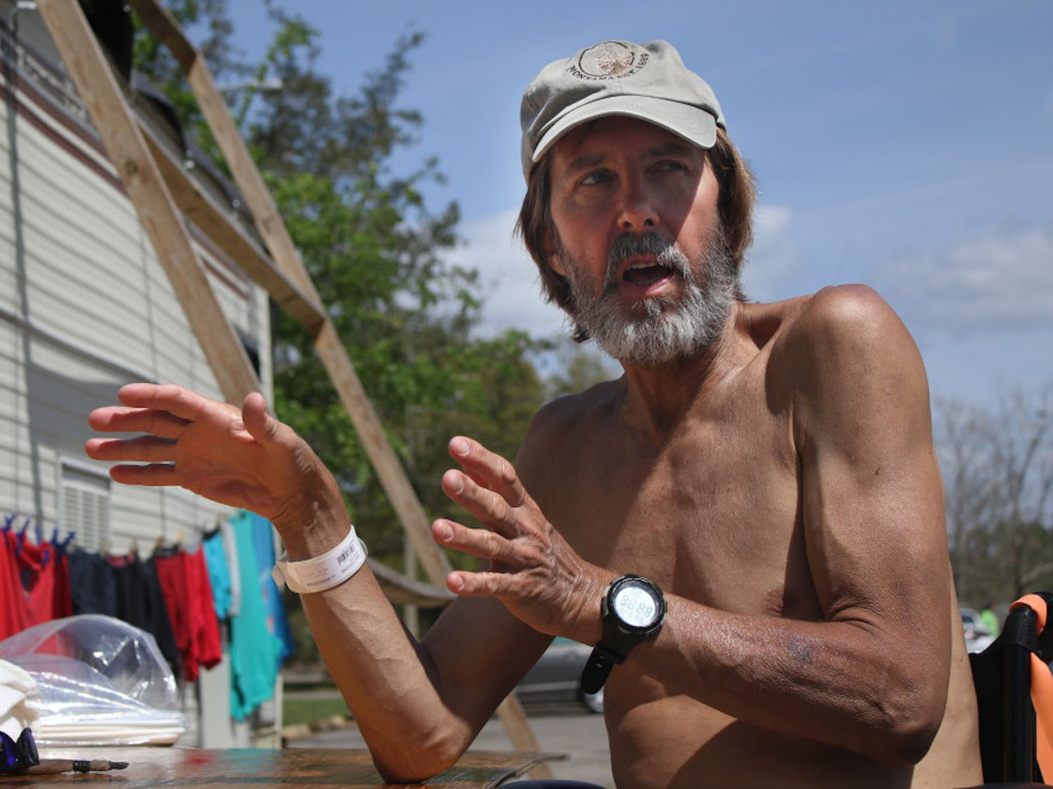 In Dignity Village, just outside the main gate of GRACE Marketplace, Mark Venzke, 62, describes his plans to renovate his motorhome so he can move out of the 6-foot tent where he currently sleeps.