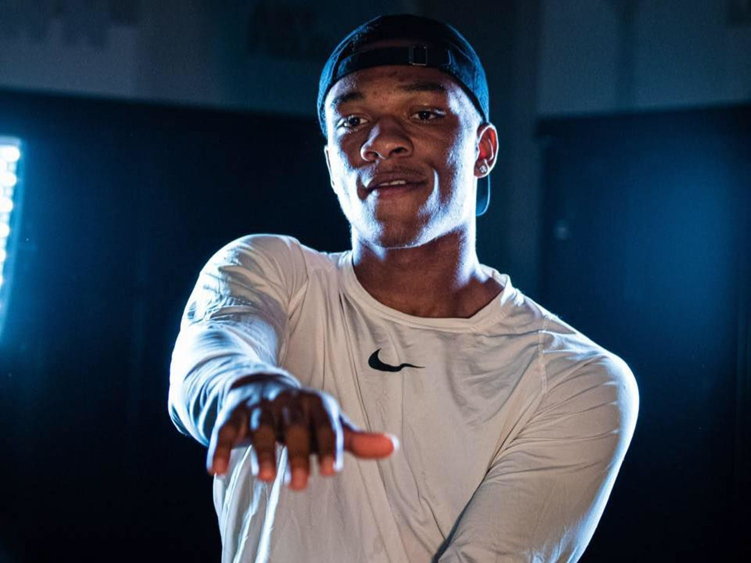 """Anthony Richardson, 17, will be featured on season 4 of the Netflix show """"QB1: Beyond the Lights."""" Richardson is the star quarterback of the Eastside High School football team."""