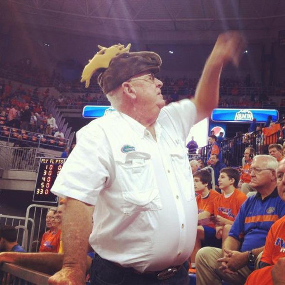 """<p class=""""p1"""">Ron Davis has been attending Florida basketball games since his days as a student in the early 1960s. In 1988, he adopted a routine involving a green Speedo and a moose hat in an attempt to distract opposing free-throw shooters.&nbsp;</p>"""