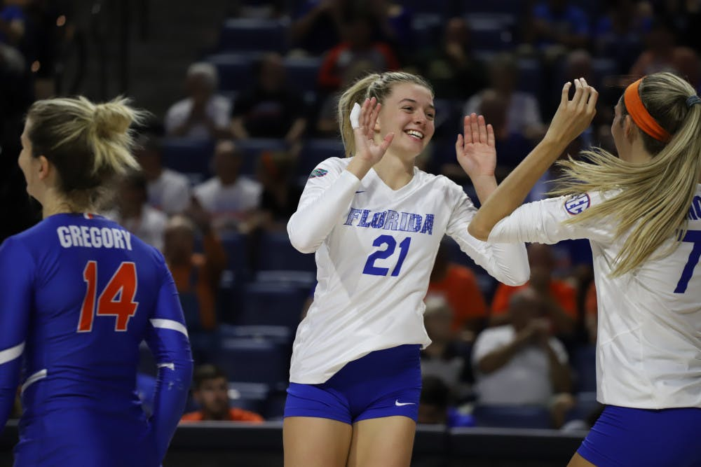 """<p><span id=""""docs-internal-guid-e0d8d321-7fff-2671-4fb9-a114c4dab3d8""""><span>Setter Marlie Monserez has followed in her sisters' footsteps in becoming a leader for UF's volleyball team.</span></span></p>"""