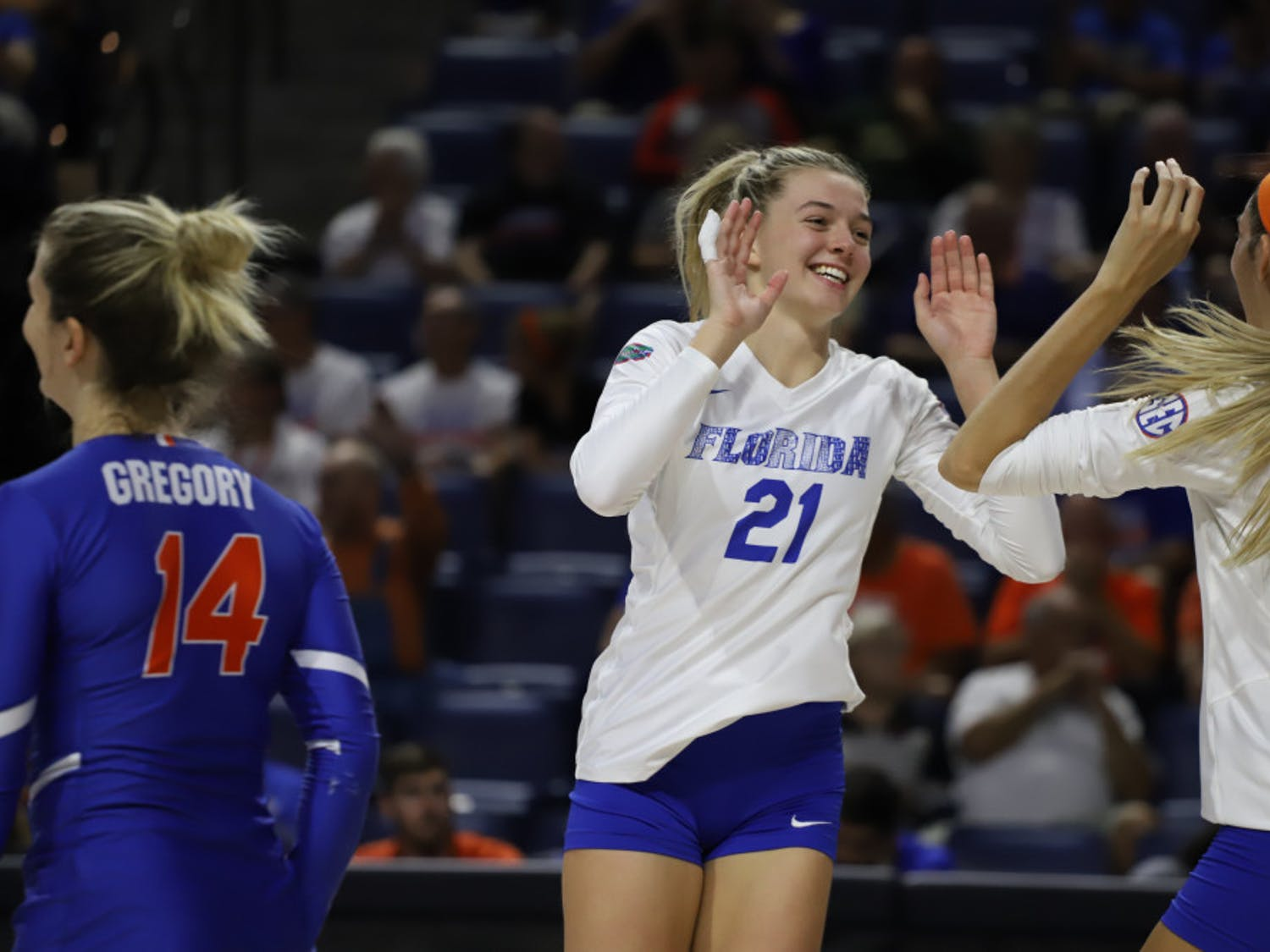 Setter Marlie Monserez has followed in her sisters' footsteps in becoming a leader for UF's volleyball team.