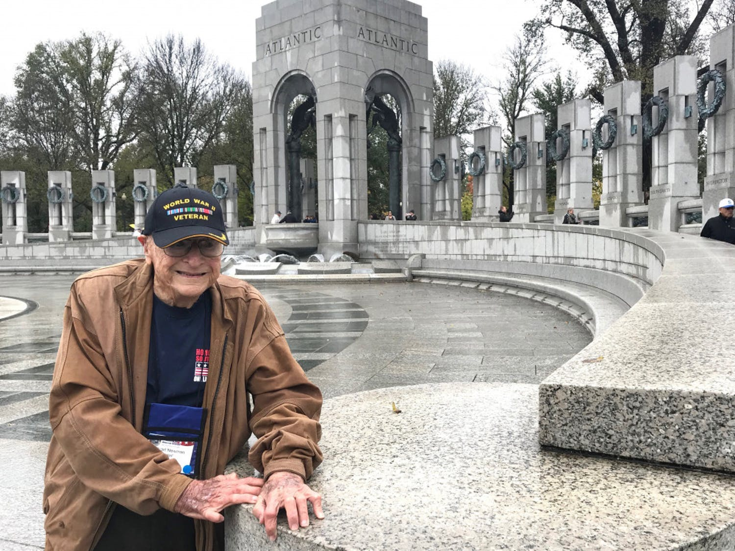 Stuart Newman visits the World War II Memorial located in Washington D.C. in late October 2018. Newman was a WWII veteran.