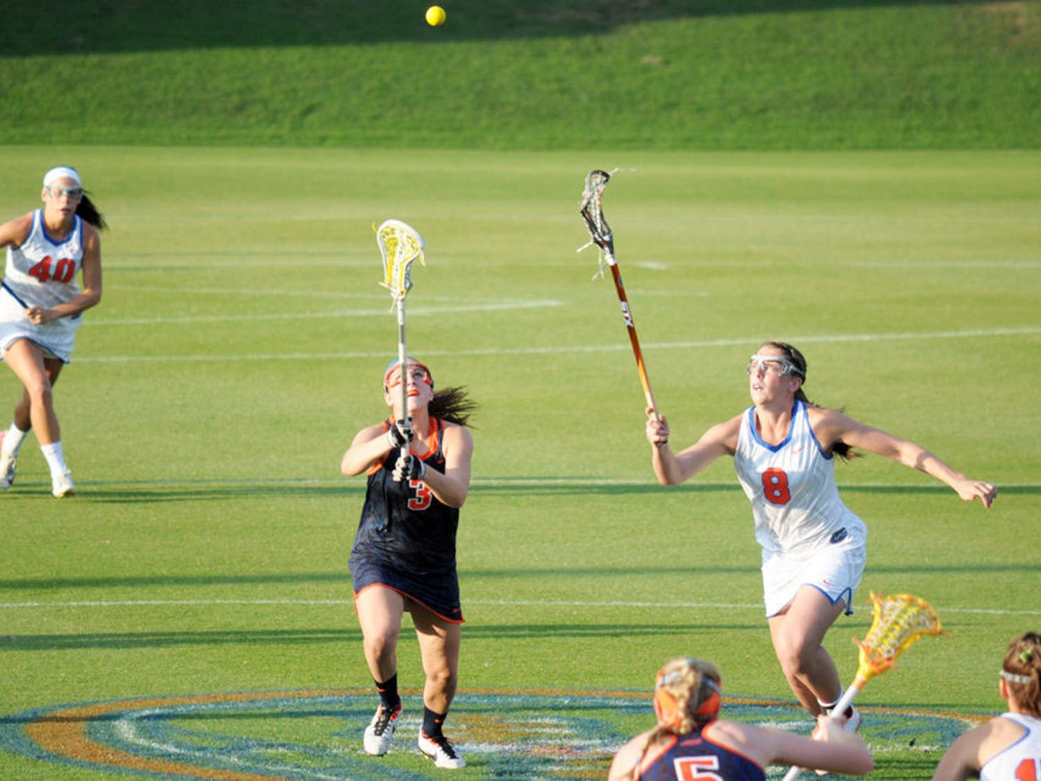 Shannon Gilroy fights for a draw control during Florida's 14-13 overtime loss to Syracuse on Tuesday at Donald R. Dizney Stadium.