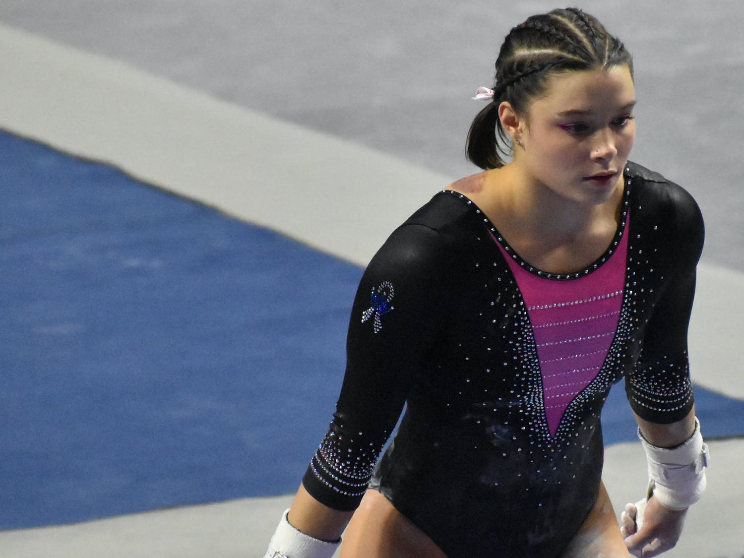 In the final rotation, Skaggs potentially ended her career on a high-note with a 9.9375.