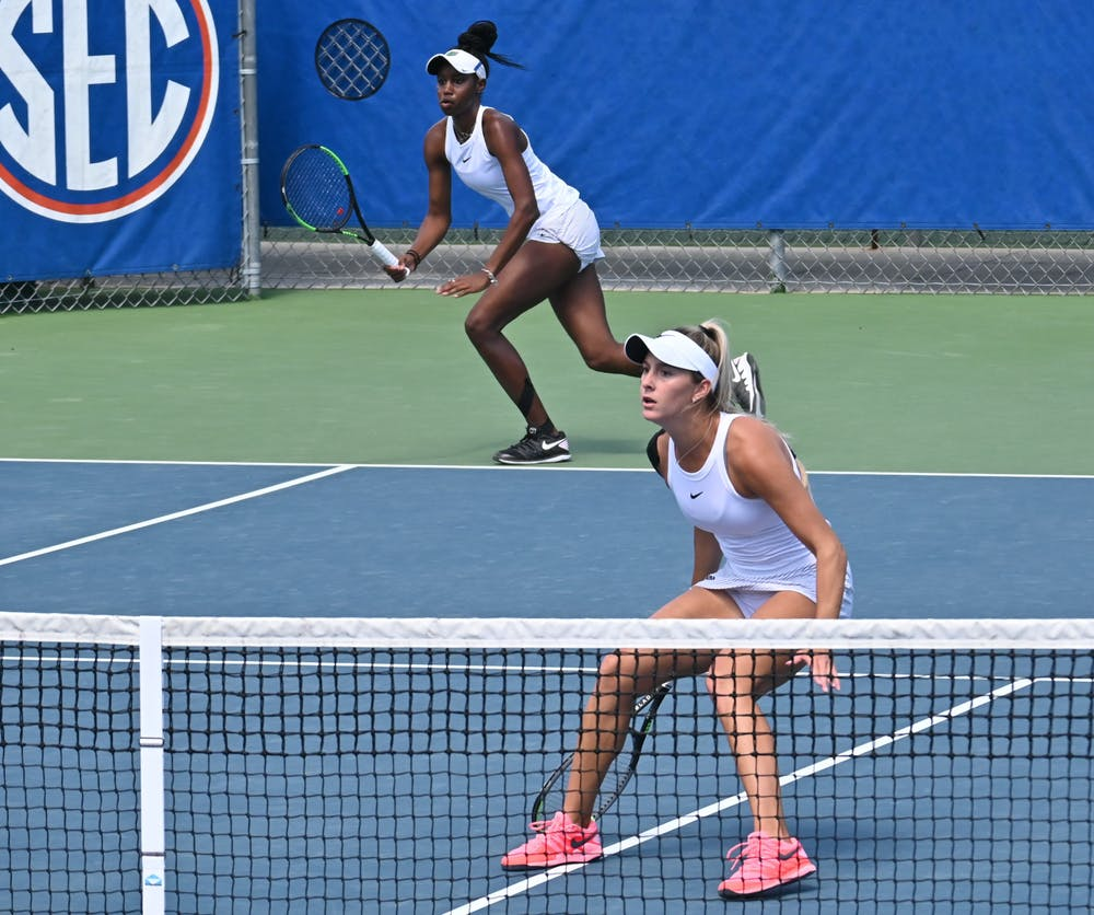 Junior Marlee Zein and senior McCartney Kessler against Arkansas on March 14. Florida's season came to an end in the round of 32 Saturday against USC.