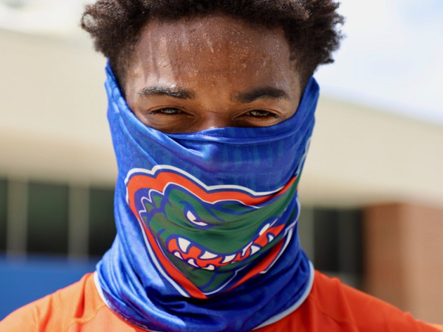 Redshirt juniorVentrellMiller wearing a mask outside of the O'Connell Center. On June 17, the NCAA approved a plan for schools to begin summer workouts in July for the upcoming fall football season.
