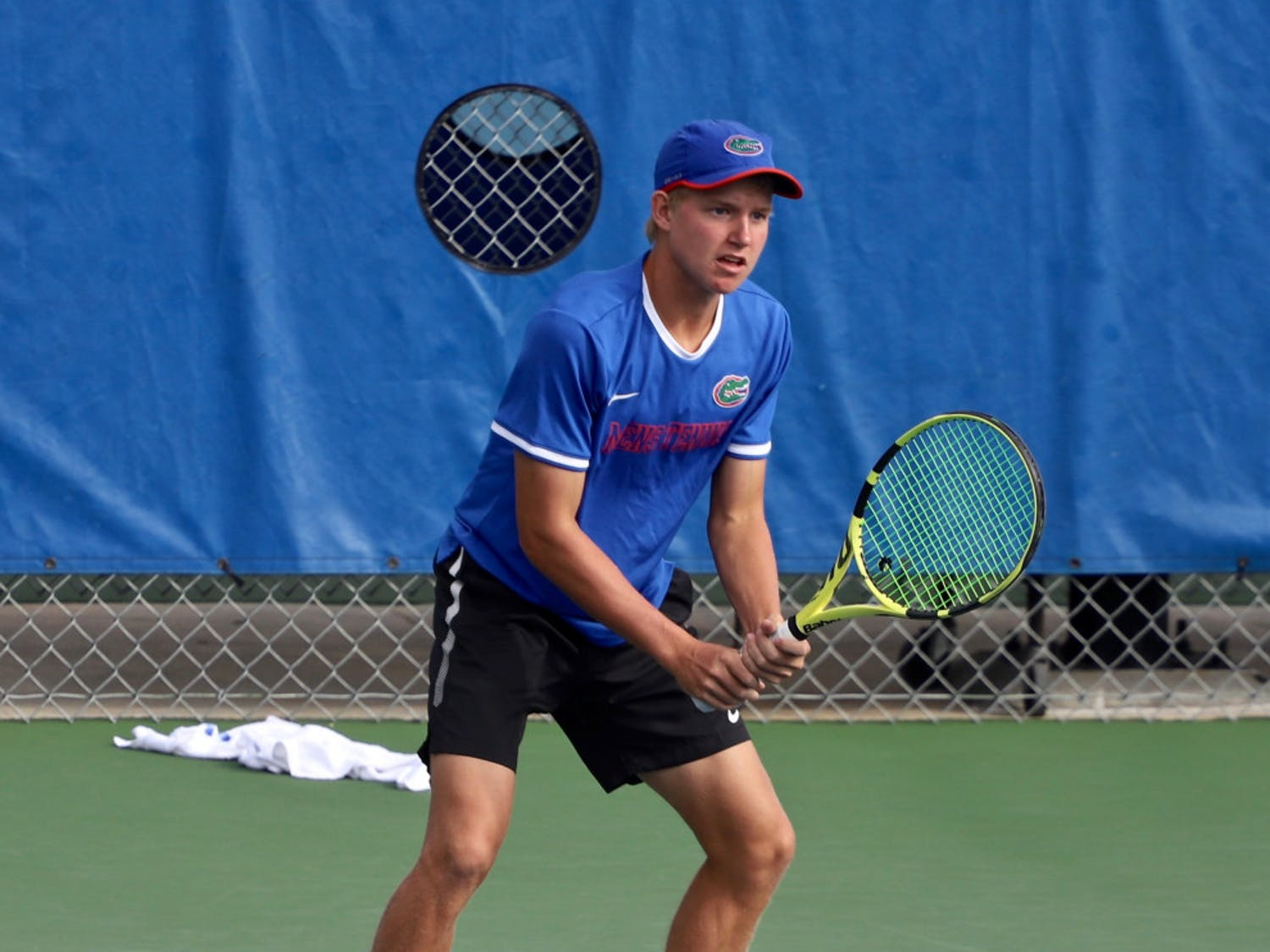 Junior Lukas Greif left the Southern Intercollegiate Championships undefeated, having won all five of his matches.