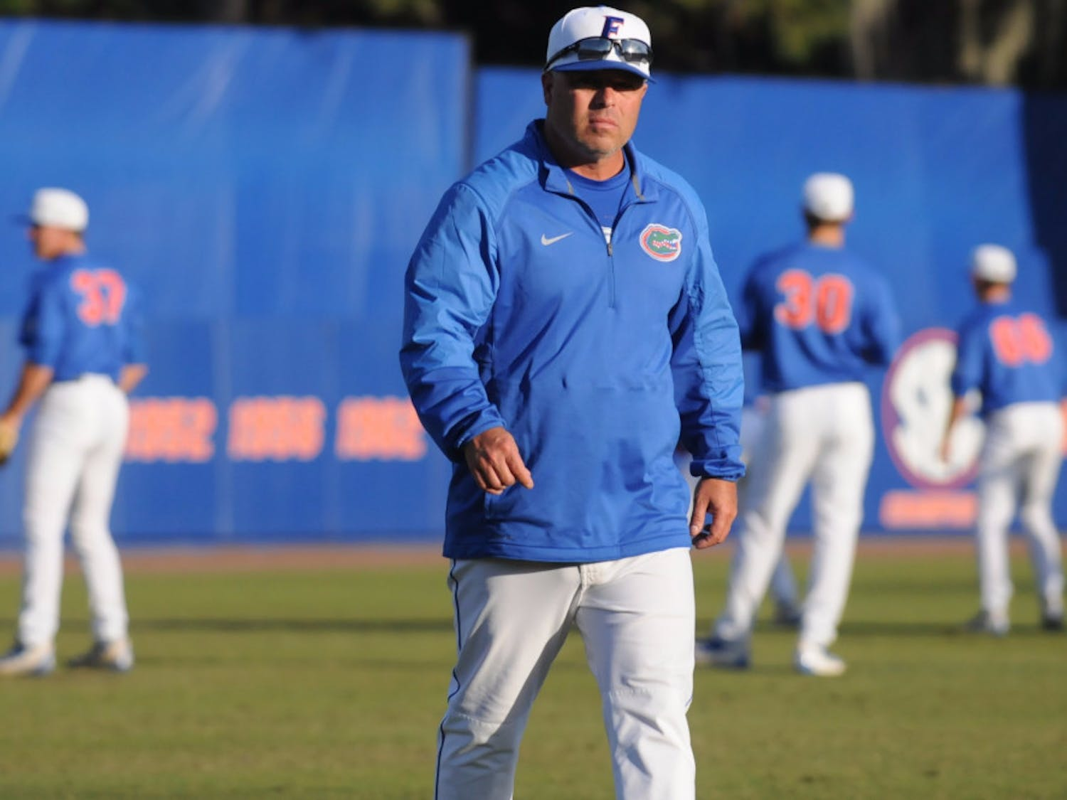 """Coach Kevin O'Sullivan and the Gators dropped their first home game since March 23 in an 8-4 loss against Jacksonville Tuesday night.""""We've gotta clean up some mistakes,"""" O'Sullivan said."""