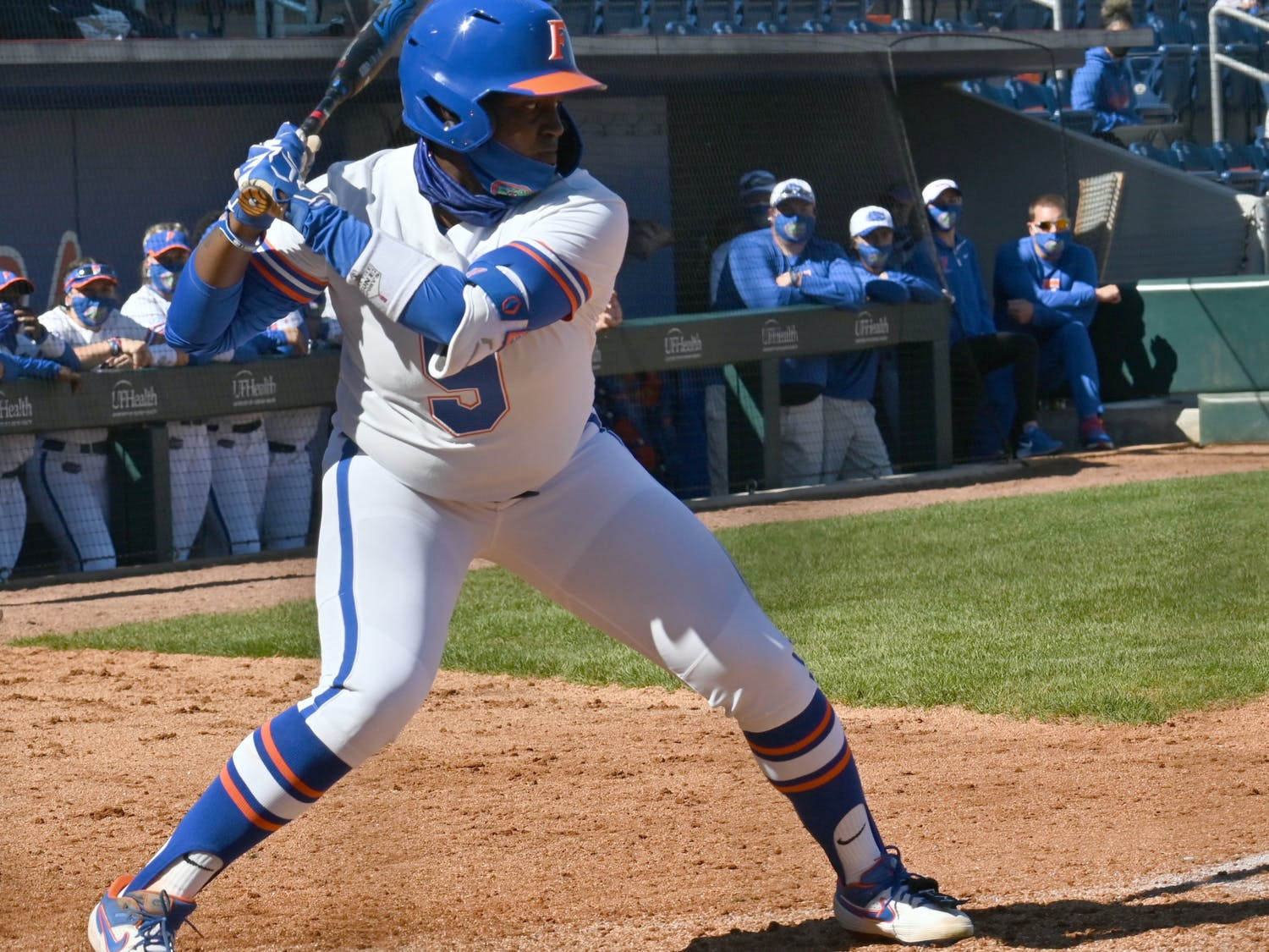 Left-fielder Jaimie Hoover recorded a double and a key put-out in Friday's victory against LSU.