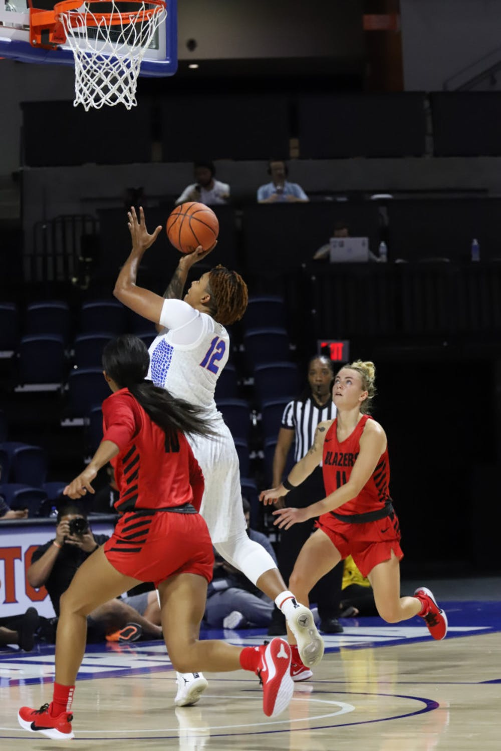 """<p dir=""""ltr"""">Forward Zada Williams had 13 points on 6-of-9 shooting in UF's exhibition win over Valdosta State.</p>"""