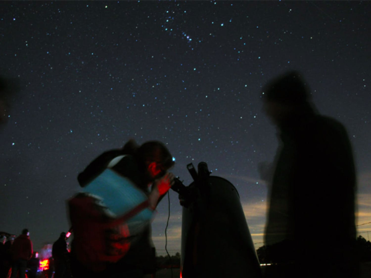 Attendees at Paynes Prarie stargazing event check out the night sky a few years ago in January 2015.