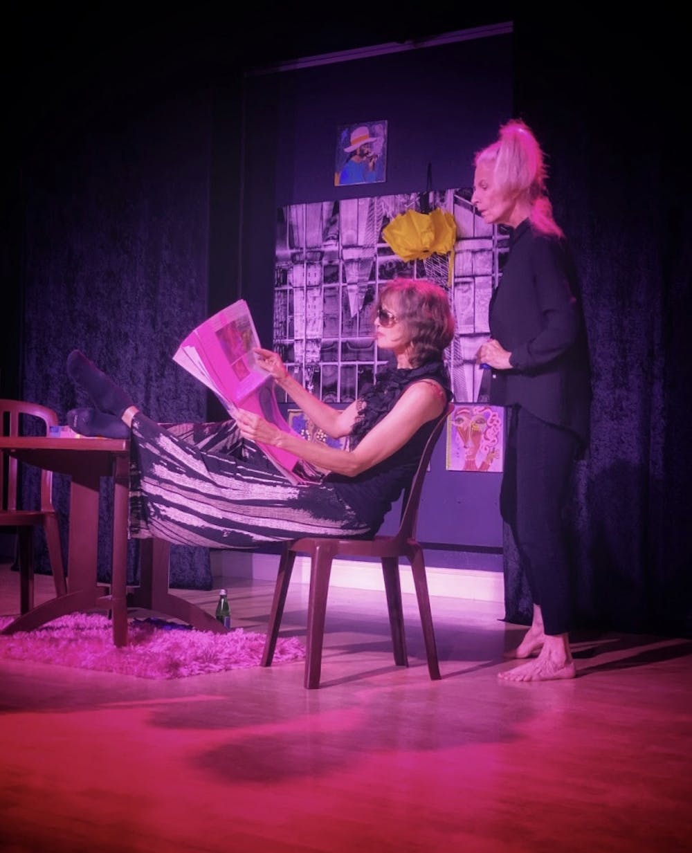 """<p dir=""""ltr""""><span>Extended from September until Oct. 30, """"The Stronger,"""" directed by the gallery's artistic consultant Lauren Warhol Caldwell and performed by Ani Collier and Sara Morsey, tells different truths through text and dance.</span></p><p><span></span></p>"""