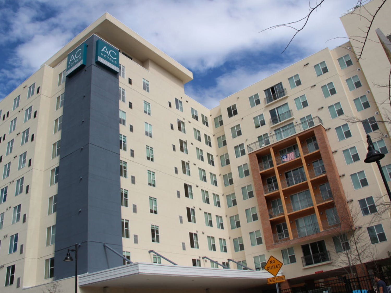 The new AC Hotel Gainesville Downtown overlooks Midtown on NW 14th Street. The 10-story hotel is set to open on Feb. 20.