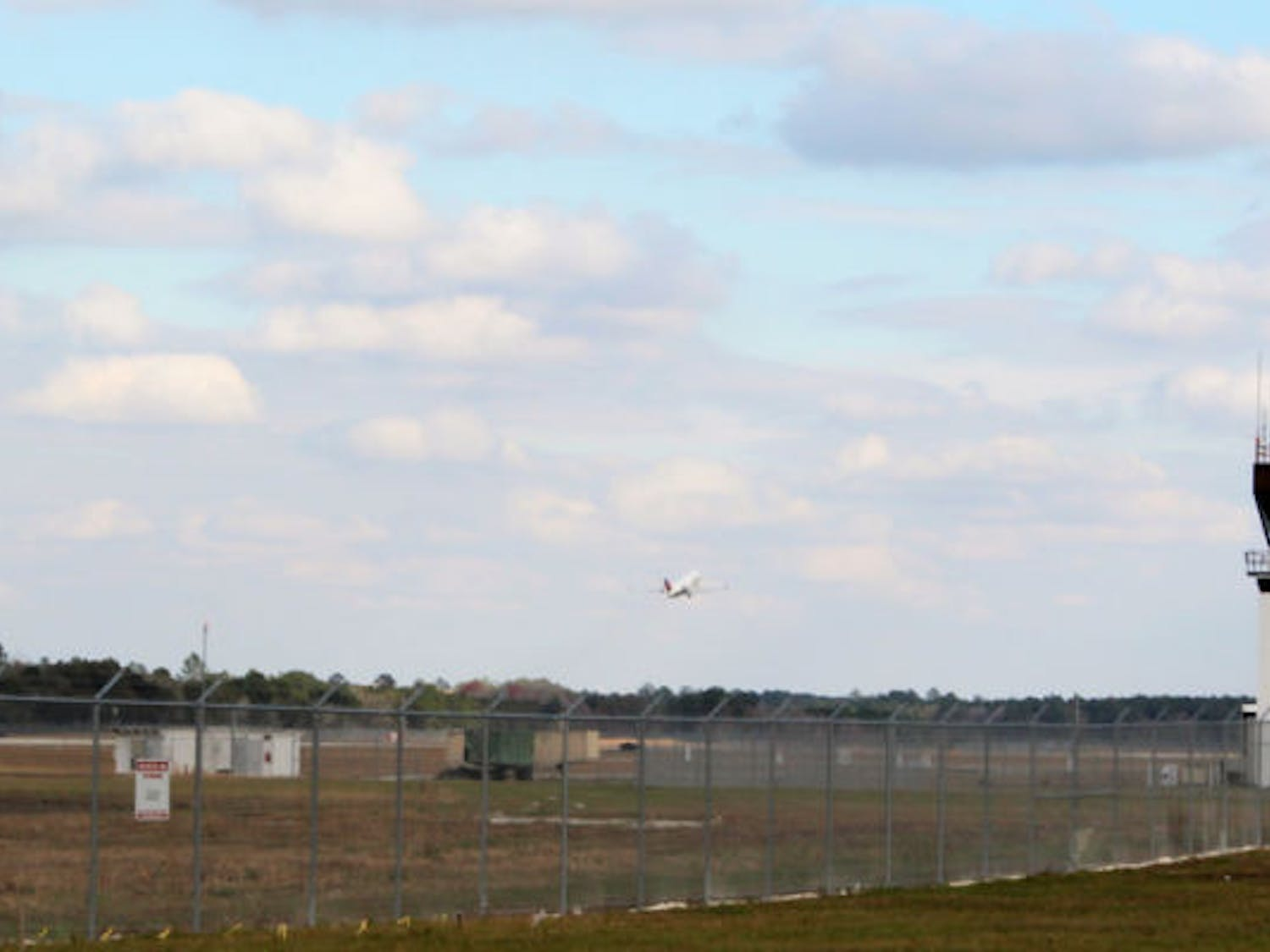A plane takes off from Gainesville Regional Airport on Wednesday afternoon. An online survey created by the airport asked residents about their interest in nonstop flights to New York City.