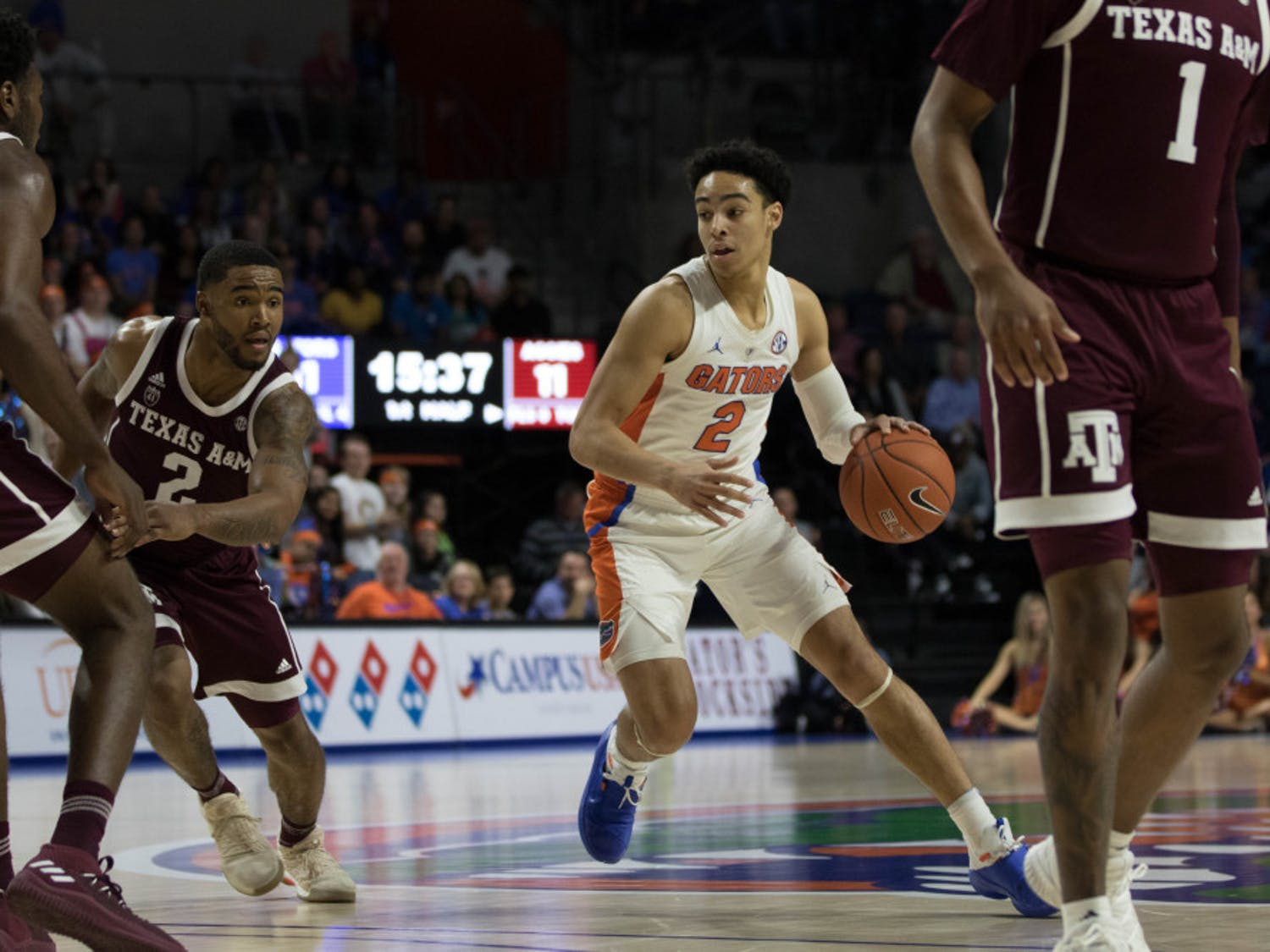 Florida guard Andrew Nembhard recorded 11 assists in Florida's 81-72 win over Texas A&M on Jan. 22.