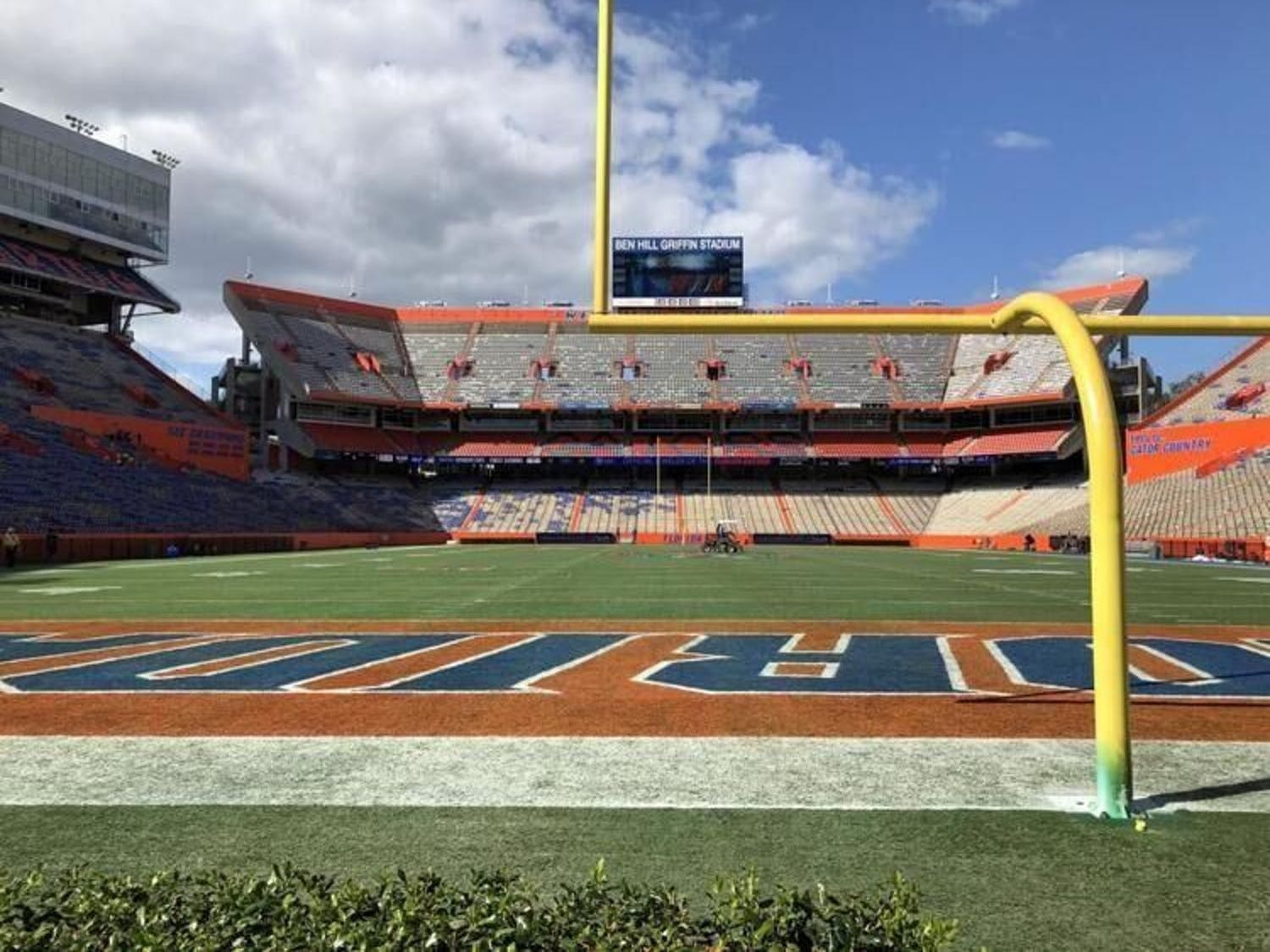 The University Police Department will not be in charge of social distancing when Florida plays South Carolina in its first home game at Ben Hill Griffin Stadium. Fans can use the Florida Gators app to report a social distancing violation in the stadium.