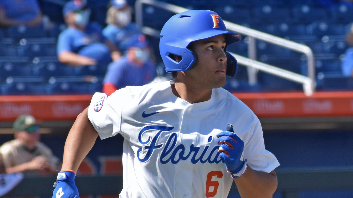 Calilao's heroics ended a 3-2 pitching battle and lifted Florida over their in-state rival to move to 22-11 on the year. Photo from UF-Jacksonville March 14, 2021.