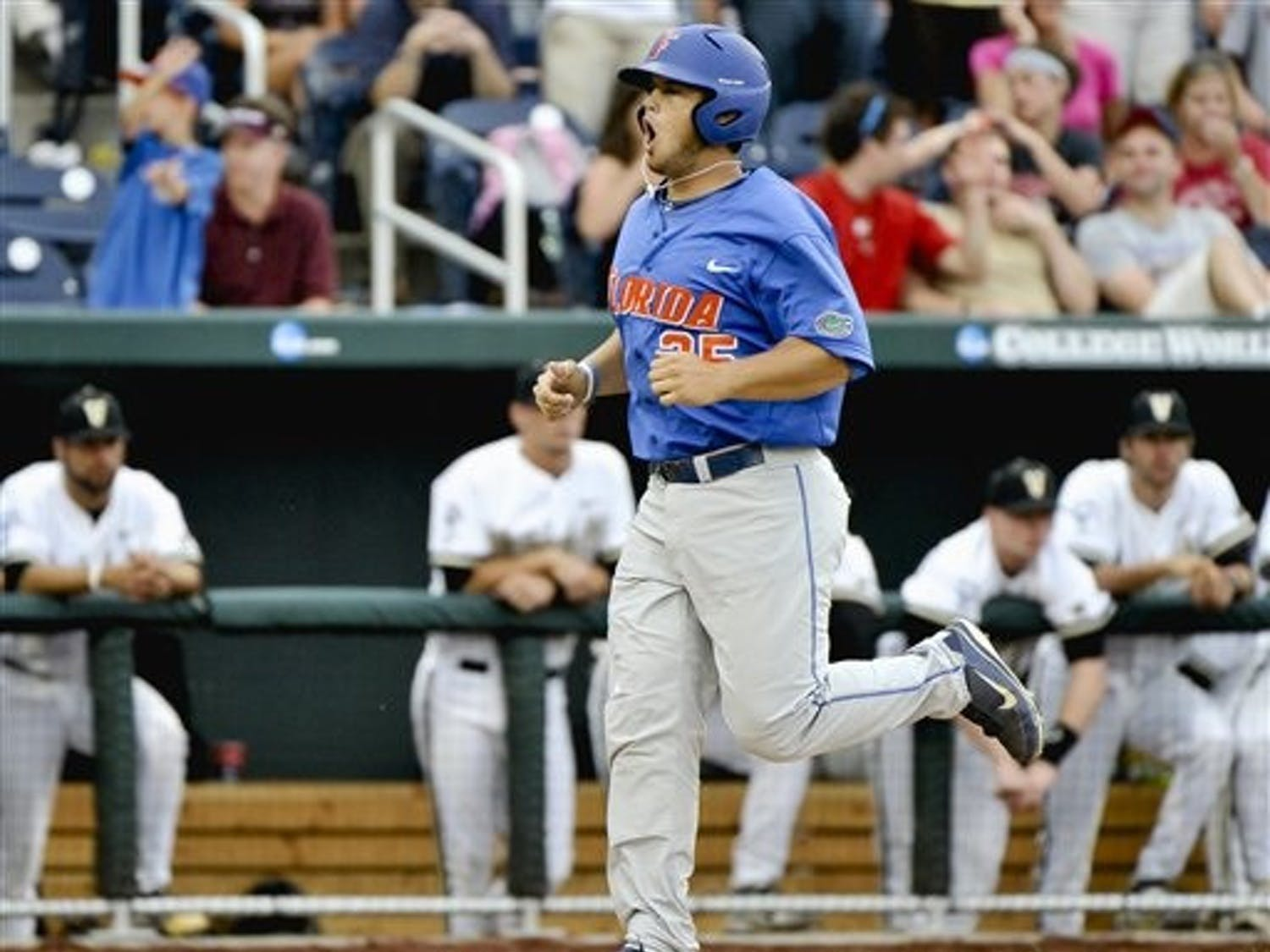Preston Tucker and the Gators have dropped Vanderbilt four times already this seaso, including a 3-1 victory just four days ago at the College World Series. The two teams square off Friday at 2 p.m. in a semifinals matchup.