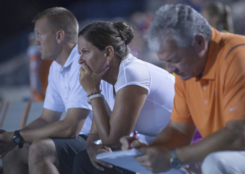 <p>Becky Burleigh&#x27;s announced her retirement as UF&#x27;s head soccer coach after 26 years at the helm</p>