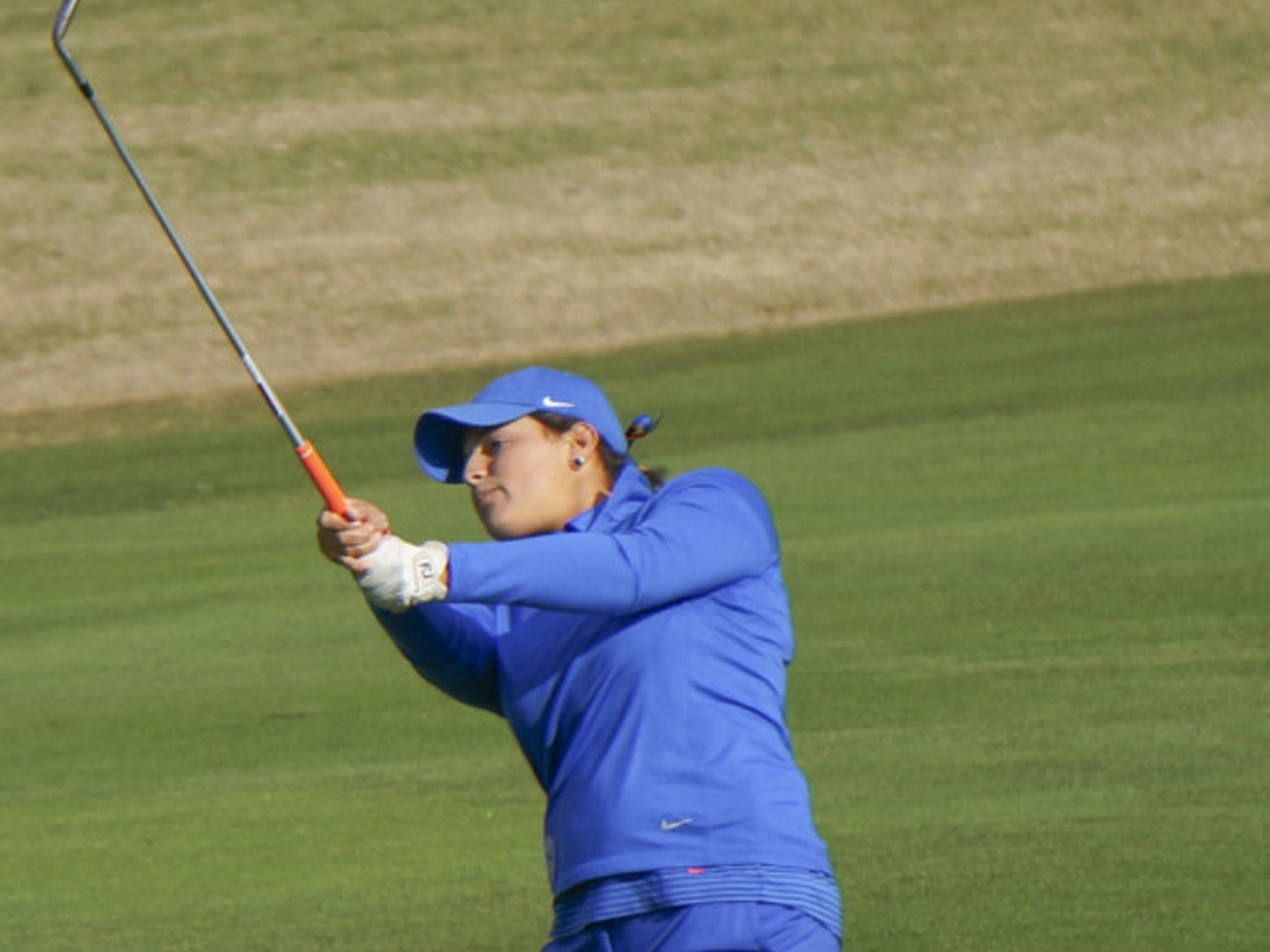 Maria Torres tees off during the 2015 SunTrust Gator Invitational at UF's Mark Bostick Golf Course.