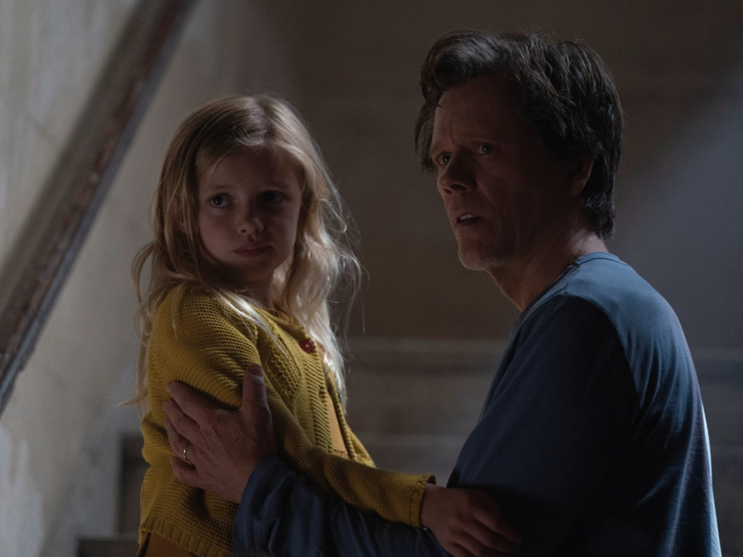 """Ella Conroy (Avery Essex) and Theo Conroy (Kevin Bacon) in """"You Should Have Left,"""" written and directed by David Koepp."""