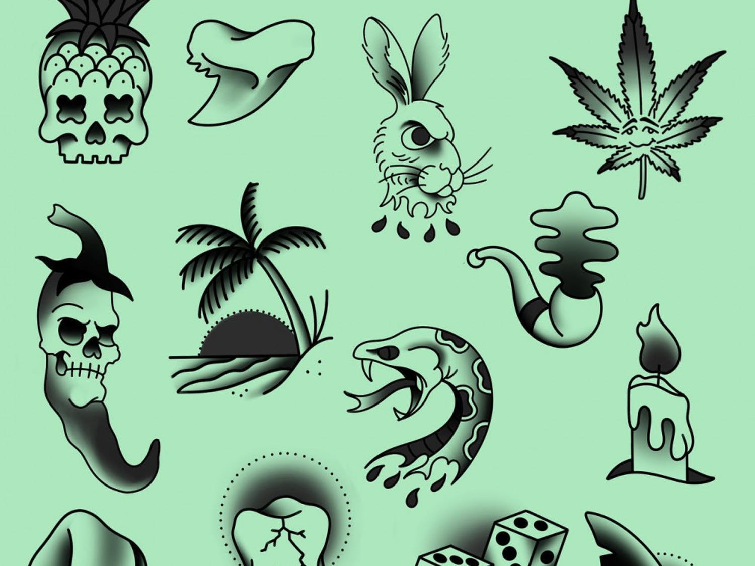For this Friday the 13th, Oasis Tattoo Collective is offering $31 tattoos with a $9 tip fromtwo flash sheets with 29 designs.
