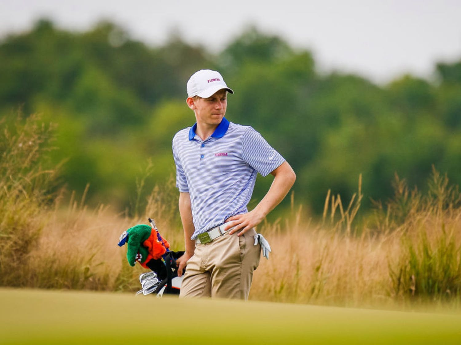Sophomore John Axelsen led the Gators with a score of 4 over, tying him for 14th place on the first day of the Robert Kepler Intercollegiate.