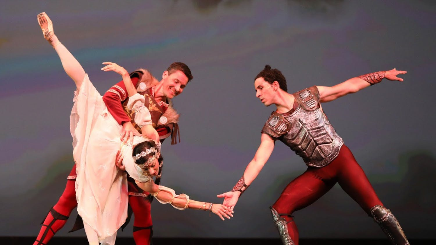 Jessie Dominguez  (left– Co-host of Dance Alive's new podcast), Tim Cannon (middle– First guest speaker on the podcast), and Roberto Vega (right) dancing at a Dance Alive performance.  (Photo by Ani Collier)