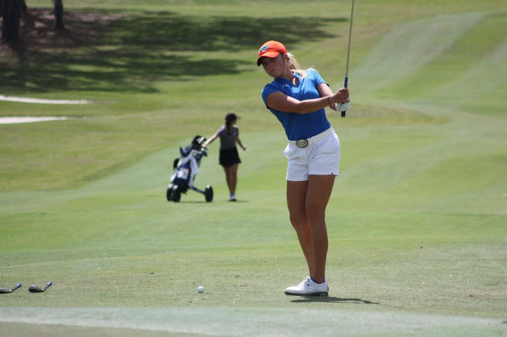 <p>Junior Sierra Brooks (pictured) finished second on the team at the Windy City Classic and 14th overall at 2 over. She and Marta Perez (-2) led the UF women to a fourth place finish at the event.</p>