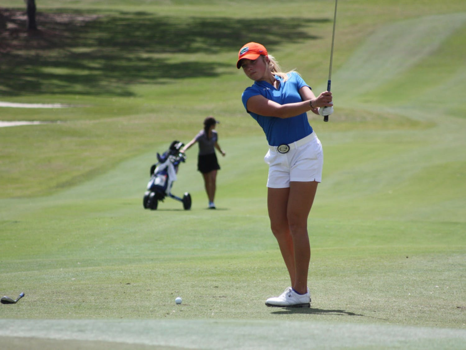 Junior Sierra Brooks (pictured) finished second on the team at the Windy City Classic and 14th overall at 2 over. She and Marta Perez (-2) led the UF women to a fourth place finish at the event.