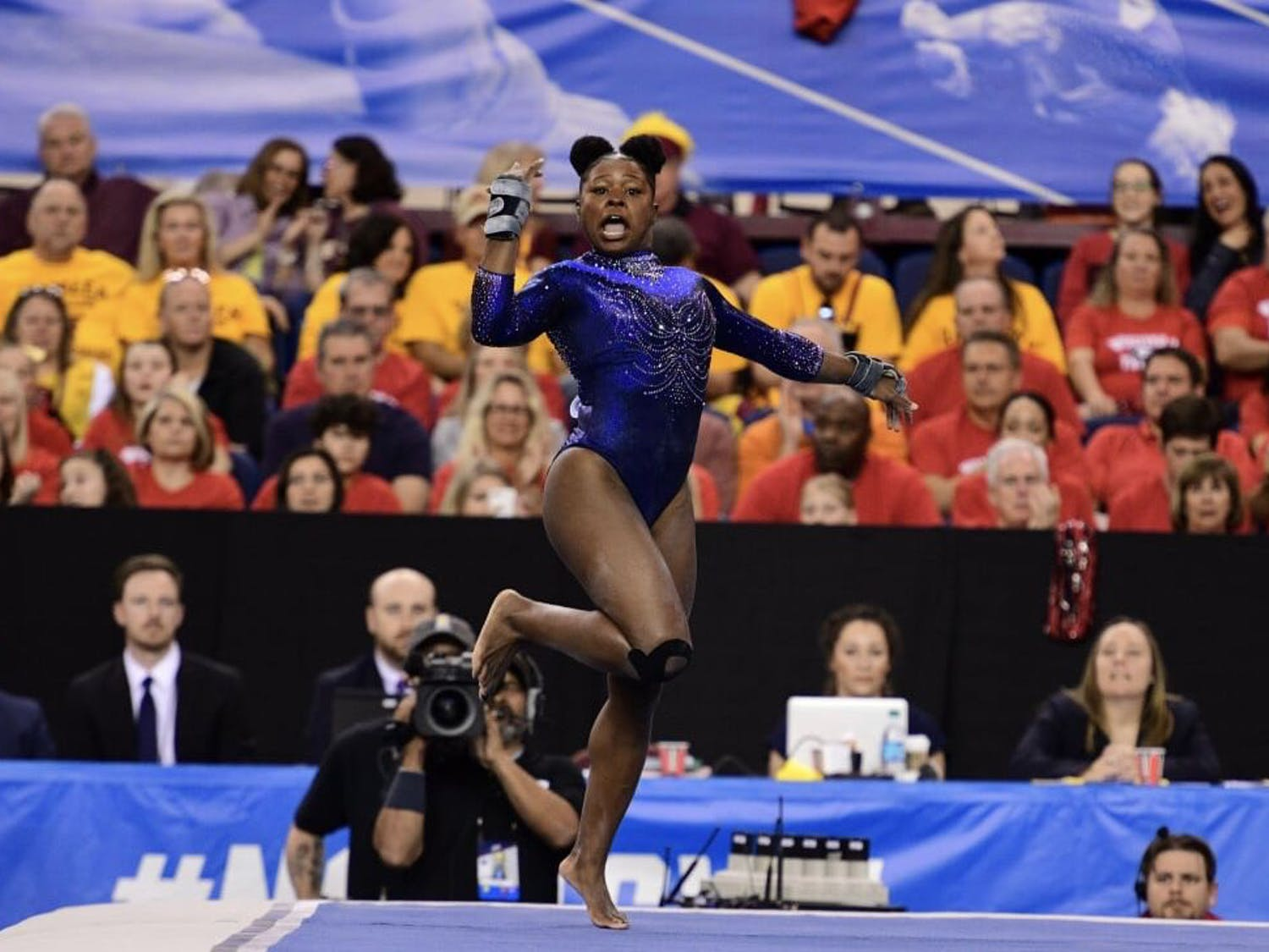 UF senior Alicia Boren earned a share of the NCAA Gymnastics Championships' floor exercise title Friday with a score of 9.95.