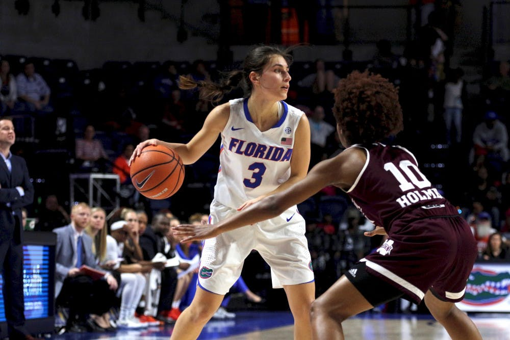 <p>Guard Funda Nakkasoglu led the Gators in scoring with 43 points through the first two games. She's the only UF player shooting over 50.0 percent from the field (57.1).</p>