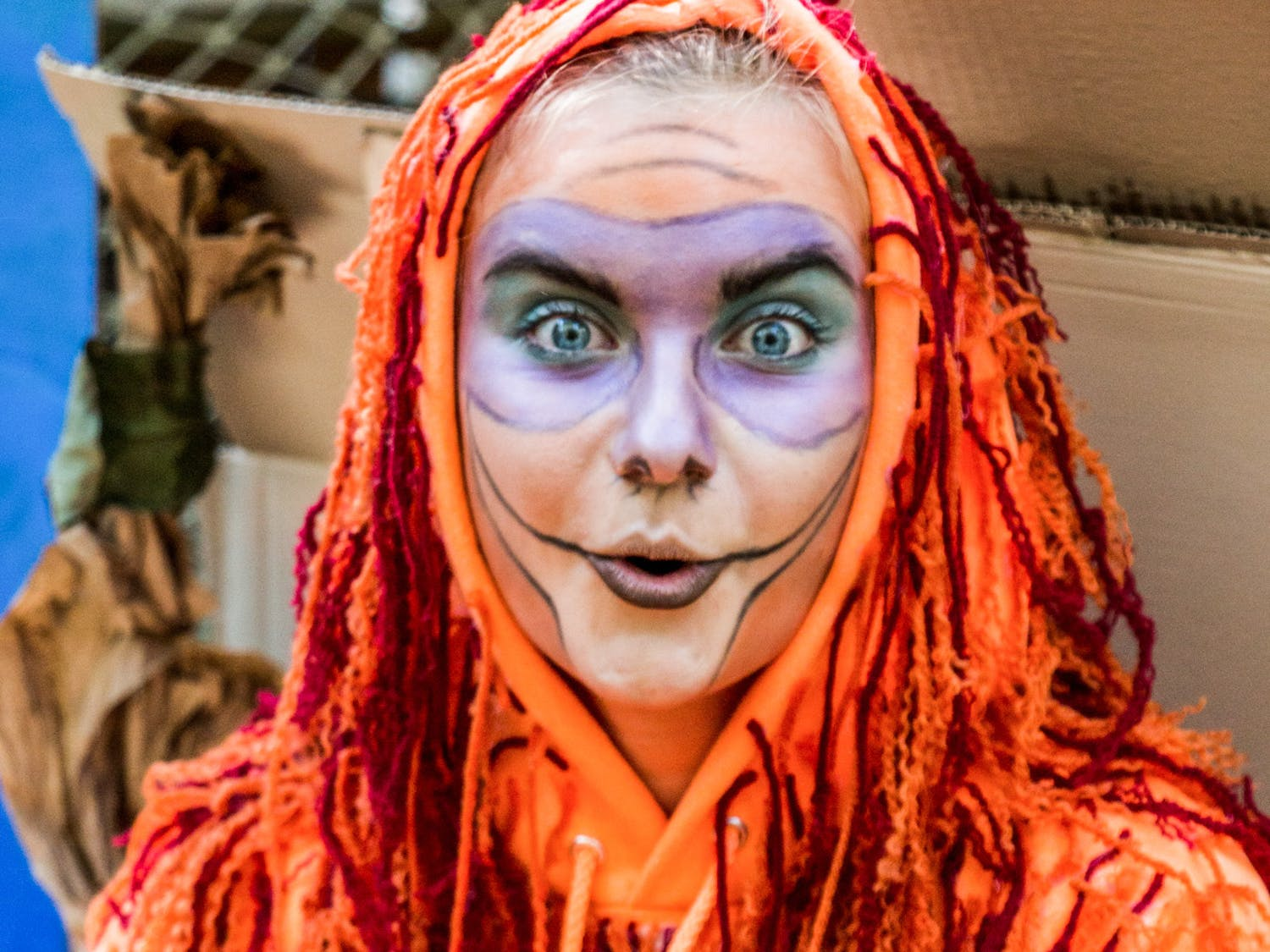 "Raigen Sumrall, 19, a Santa Fe College zoology student, dresses as King Louie from ""The Jungle Book"" during Santa Fe's Boo at the Zoo for Halloween on Monday afternoon. According to Santa Fe President Jackson Sasser, Boo at the Zoo happens every year on Halloween and draws about 6,000 attendees."