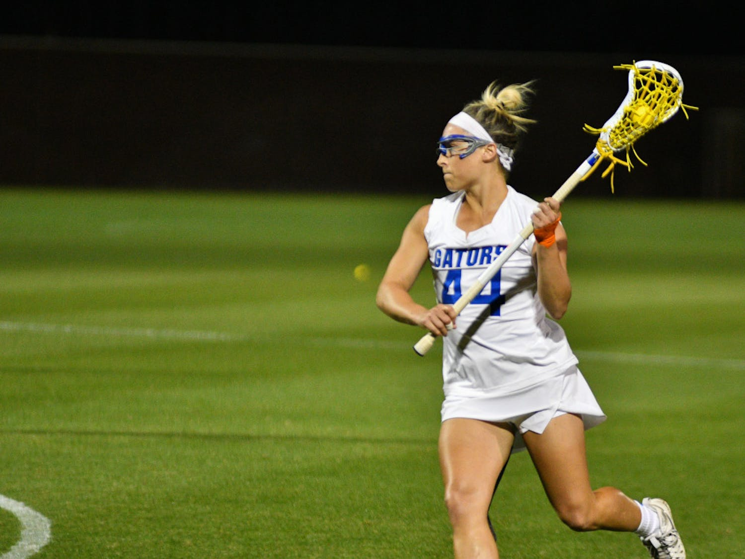 UF midfielder scored just one goal in Florida's 14-13 loss to Navy in Annapolis, Maryland, on Saturday.