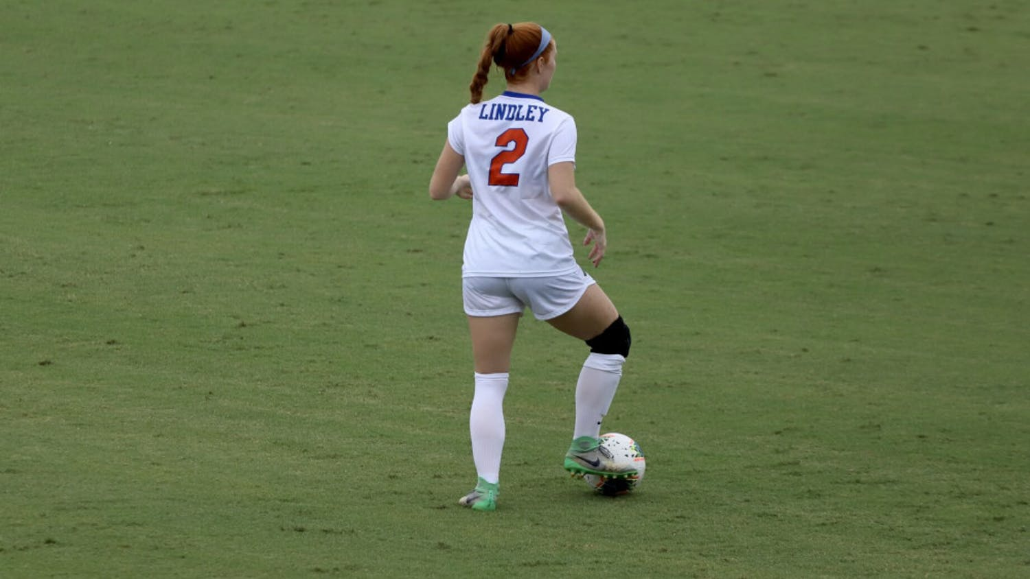 Junior Cassidy Lindley at the Gators home opener of the 2020 season. Florida takes on Miami Sunday in search of its first victory in 2021.