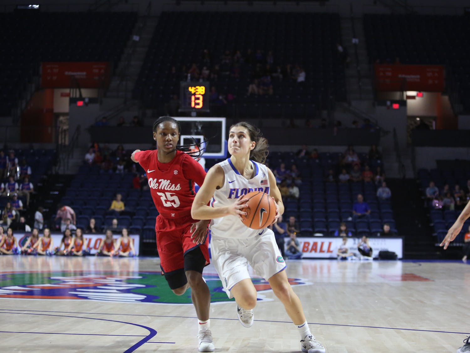 Florida guards Funda Nakkasoglu (pictured) and Delicia Washington combined for 56 points in UF's 92-82 loss against Mercer.