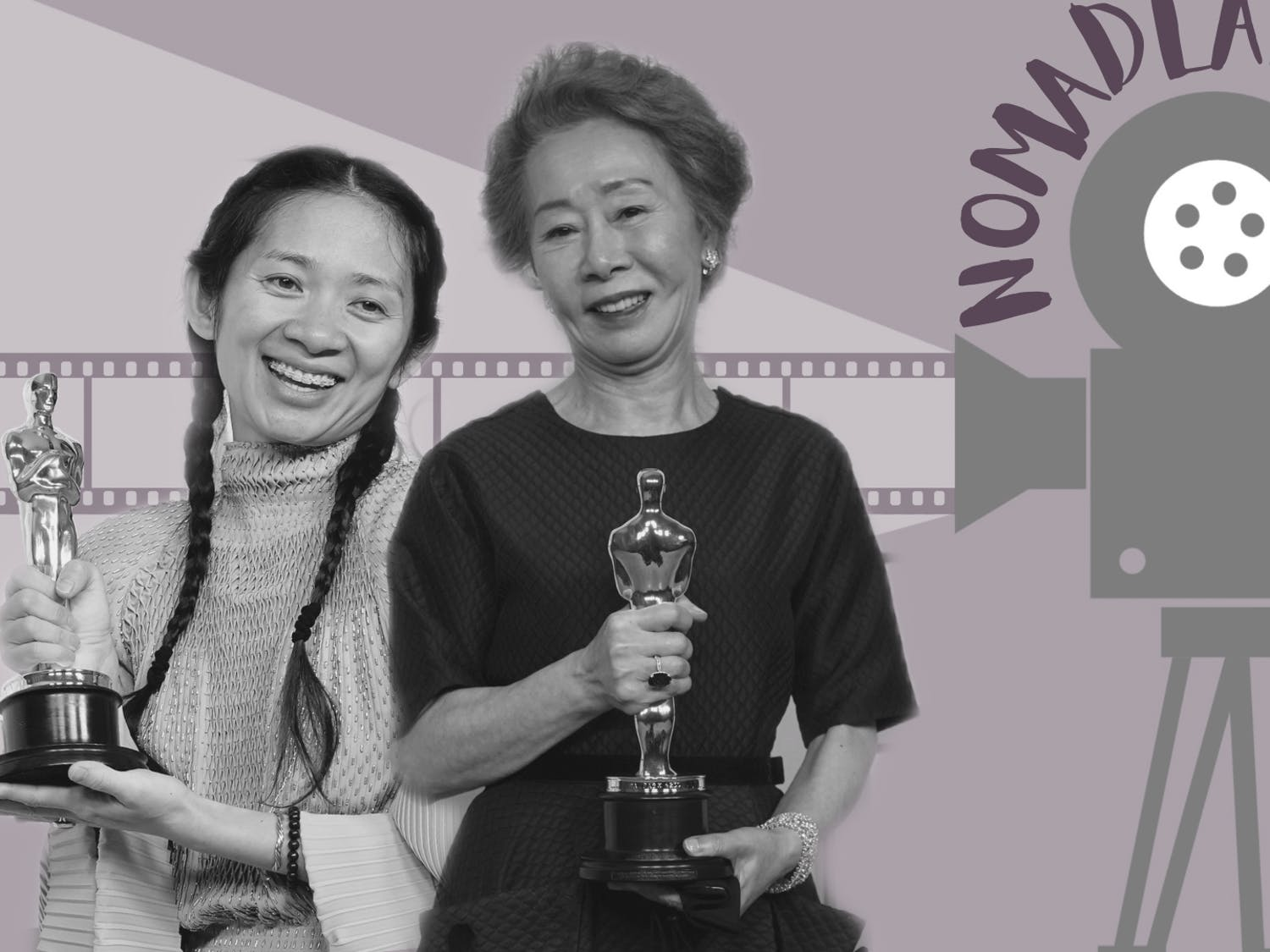 """At the 93rd Academy Awards, """"Nomadland"""" director Chloe Zhao became the first Chinese woman and woman of color to receive the award for best director. Youn Yuh-jung, for her role as the spirited grandmother in """"Minari,"""" became the first Korean woman to win best supporting actress."""
