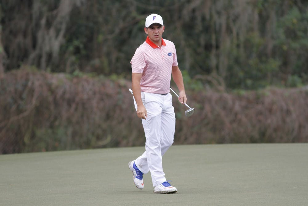 <p>Senior Alejandro Tosti is struggling at the SEC Championship despite being the returning individual champion. He shot 6-over-par on the first day of competition.</p>