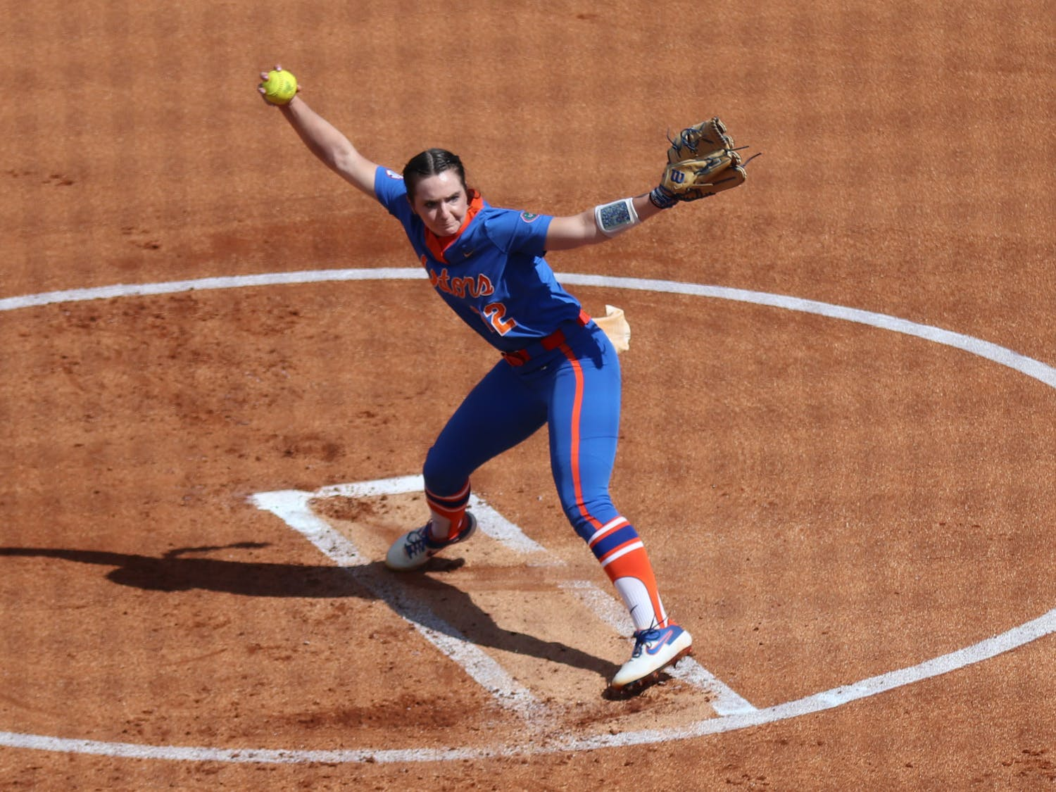 Florida's Elizabeth Hightower pitches against Louisville on February 27. Hightower tossed her first career no-hitter against South Florida Sunday to help propel Florida to the Super Regional against rival Georiga.