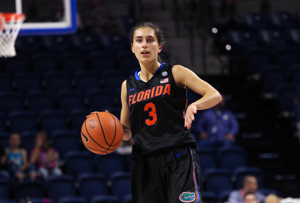 <p>Florida guard Funda Nakkasoglu scored 17 points in Florida's 74-69 victory over Marshall on Sunday at the O'Connell Center.</p>