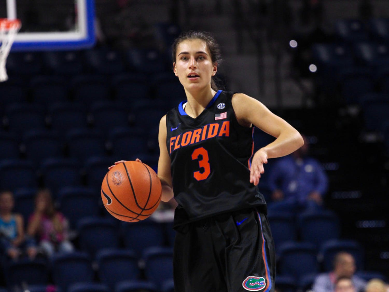 Florida guard Funda Nakkasoglu scored 17 points in Florida's 74-69 victory over Marshall on Sunday at the O'Connell Center.