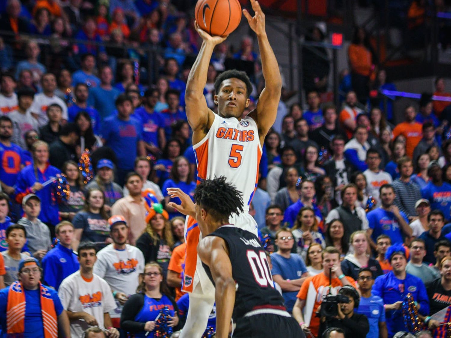 Senior guard KeVaughn Allen scored a team-high 21 points on Wednesday in the Gators' 82-77 overtime win over No. 13 LSU.