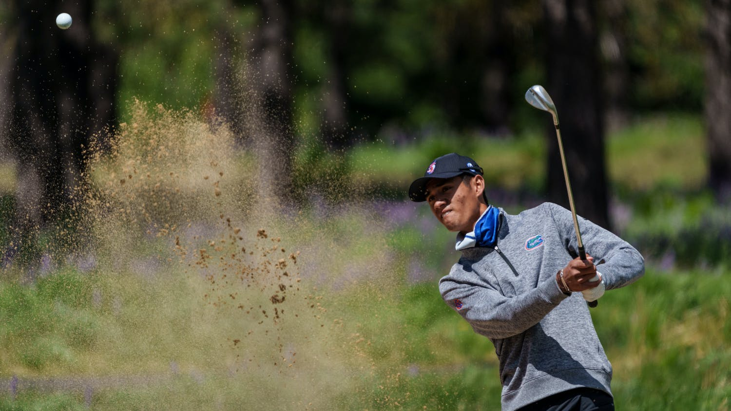 Florida's Ricky Castillo  competes in the first round of the 2021 NCAA  Cle Elum Regional at Tumble Creek Golf Club in Cle Elum, Wash., on May 19, 2021. (Photography by Stephen Brashear/Red Box Pictures)
