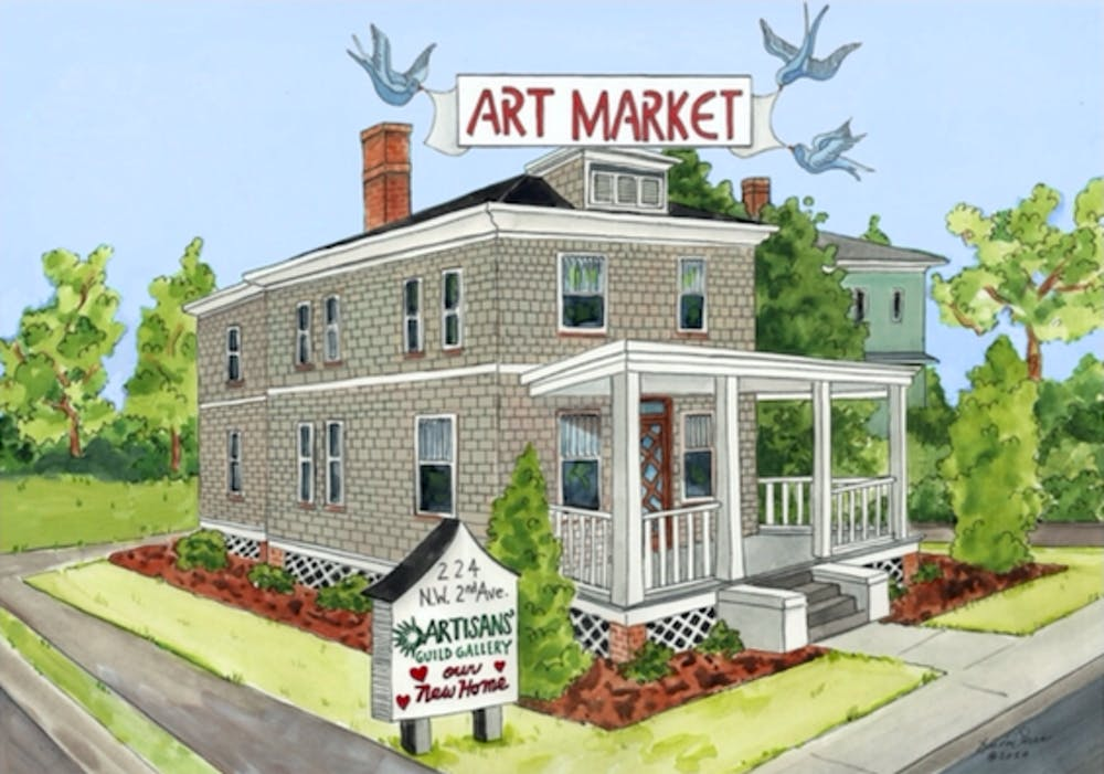 <p>The Artisans' Guild Guide is holding its first outdoor art market at its new gallery location at&nbsp;224 NW Second Ave. in downtown Gainesville.&nbsp;</p>