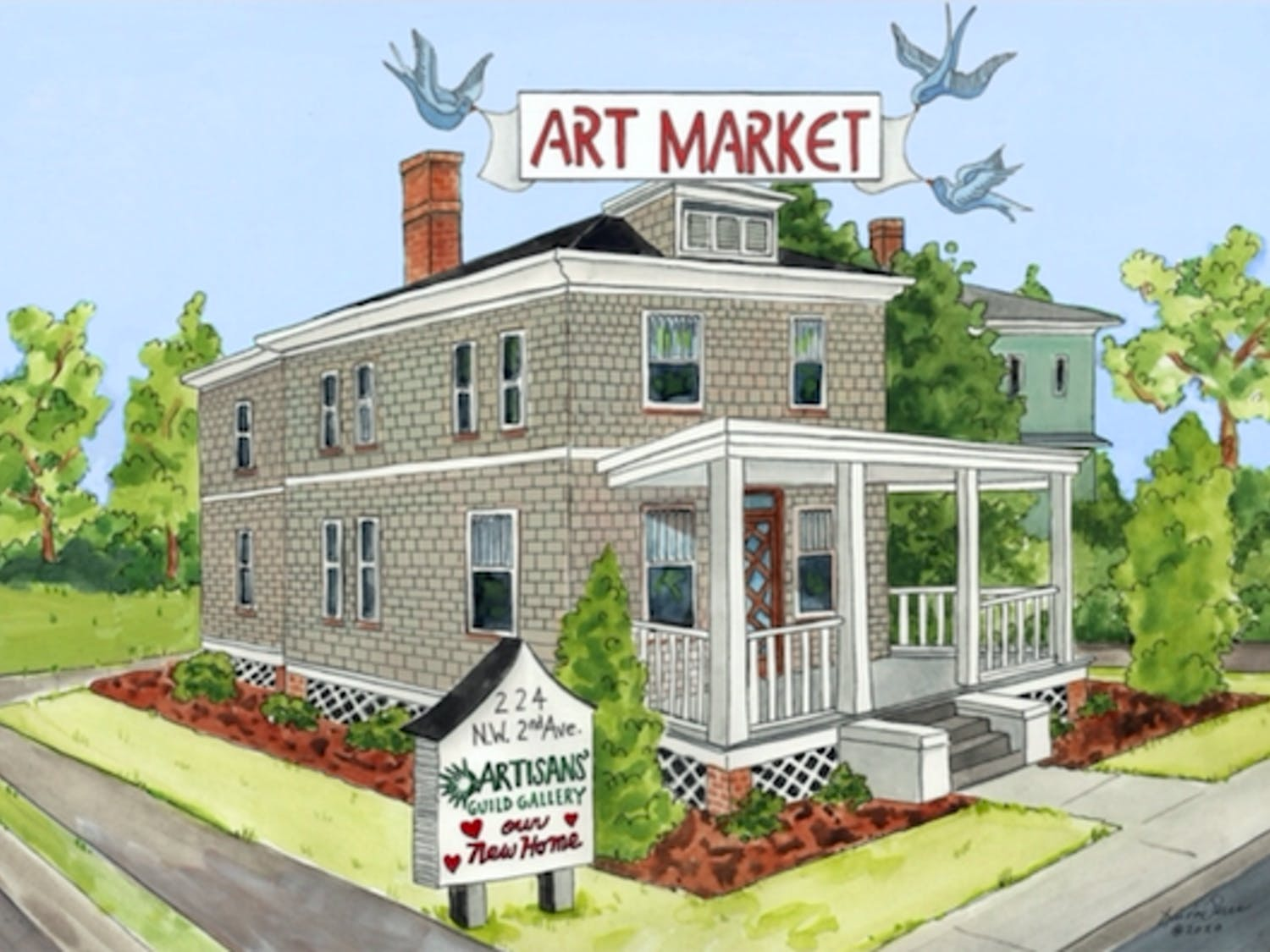 The Artisans' Guild Guide is holding its first outdoor art market at its new gallery location at224 NW Second Ave. in downtown Gainesville.